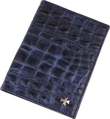 Vasheron Обложка для паспорта Vasheron 9155-N.Croco-D.Blue