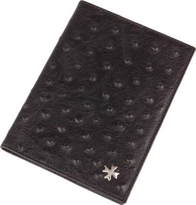 Vasheron Обложка для паспорта Vasheron 9155-N.Ostrich-Black vasheron обложка для паспорта vasheron 9155 n vegetta funduk