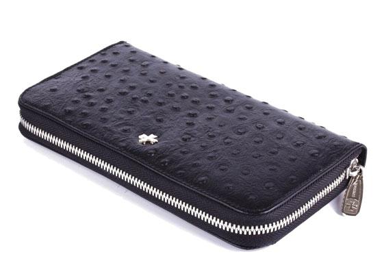 Vasheron Портфели и кожаные изделия Vasheron 9591-N.Ostrich-Black vasheron портмоне vasheron 9682 n vegetta black