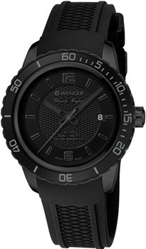 Wenger Часы Wenger 01.0851.126. Коллекция Roadster Black Night Full Black босоножки quelle heine 6780