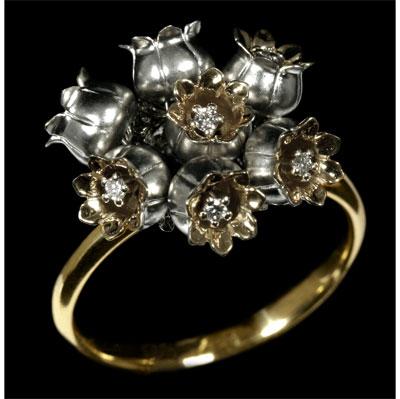 Золотое кольцо Ювелирное изделие 10210