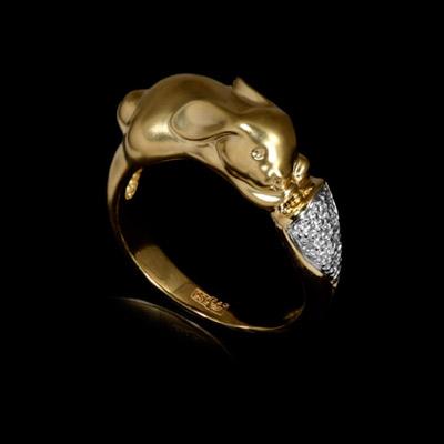 цены Золотое кольцо Ювелирное изделие 10230