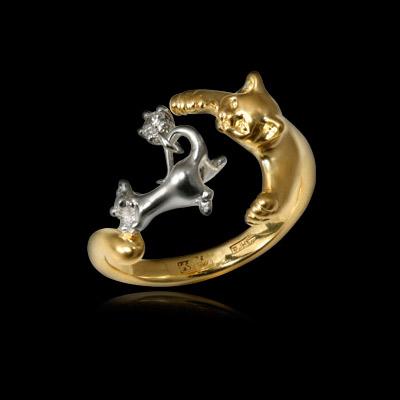 Золотое кольцо Ювелирное изделие 10551