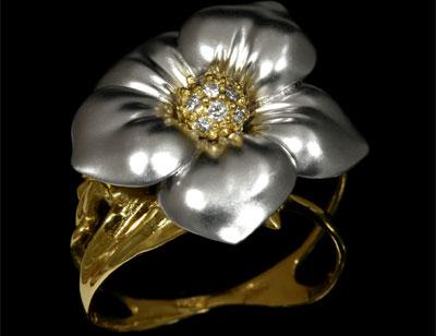 Золотое кольцо Ювелирное изделие 10590 стоимость