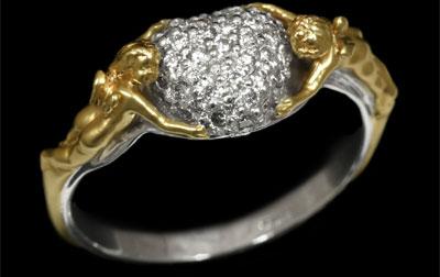 Золотое кольцо Ювелирное изделие 11060