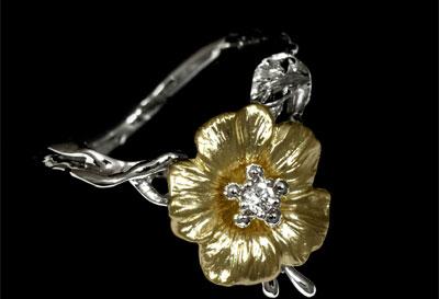 Золотое кольцо Ювелирное изделие 11080