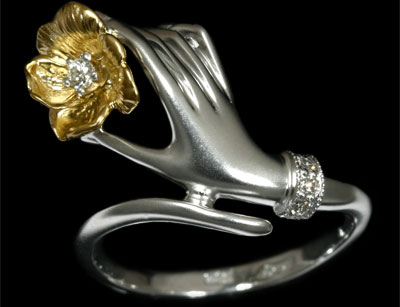Золотое кольцо Ювелирное изделие 11150
