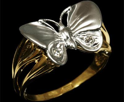 Золотое кольцо Ювелирное изделие 11190