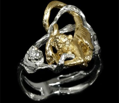 Золотое кольцо Ювелирное изделие 11230