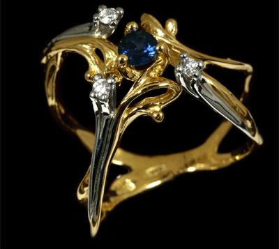 Золотое кольцо Ювелирное изделие 11260