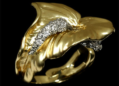 Золотое кольцо Ювелирное изделие 11290