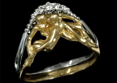 Золотое кольцо Ювелирное изделие 11360