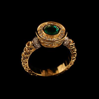 Золотое кольцо Ювелирное изделие 11690