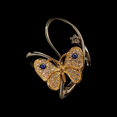 Золотое кольцо Ювелирное изделие 11760