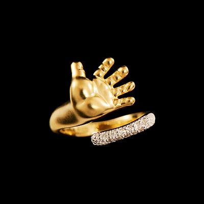 Золотое кольцо Ювелирное изделие 12160