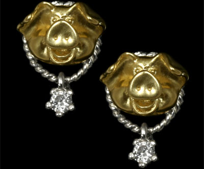 Золотые серьги  Ювелирное изделие 20140