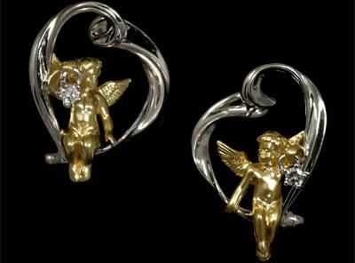 Золотые серьги  Ювелирное изделие 20430