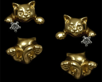 Золотые серьги  Ювелирное изделие 20520