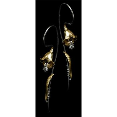 Золотые серьги  Ювелирное изделие 20970