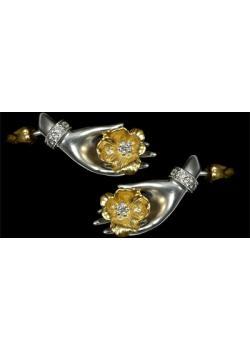 Золотые серьги  Ювелирное изделие 21150