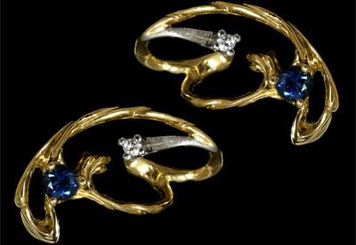 Золотые серьги Ювелирное изделие 21260