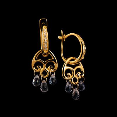 Золотые серьги Ювелирное изделие 22020 серьги из серебра альфа карат 79864