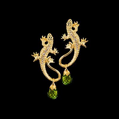 Золотые серьги Ювелирное изделие 22200 2015 моды крюк уха gekkonidae ящерица горячей продажи серьги стержня популярные