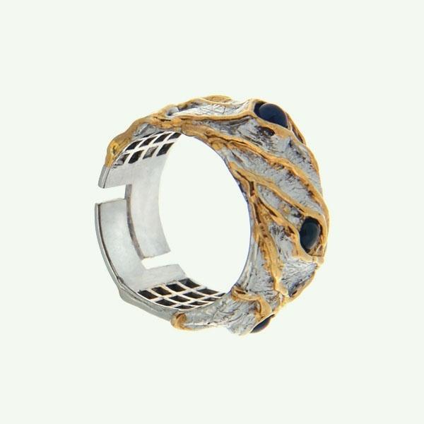 Серебряное кольцо Ювелирное изделие 1135s боди корректирующее control body cotton цвет бежевый черный 510194 skin размер m l 46 48