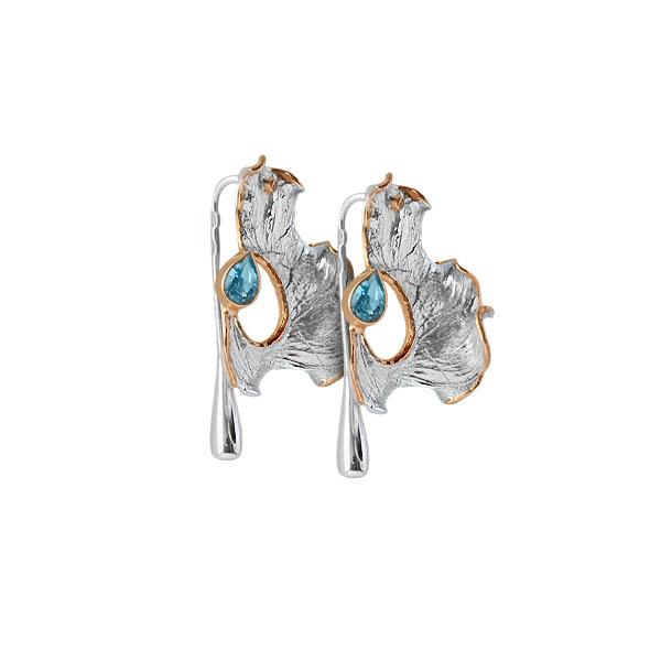 Серебряные серьги Ювелирное изделие 2105t серьги коюз топаз серьги т301025889