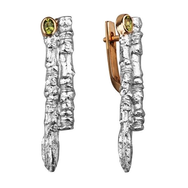 Серебряные серьги Ювелирное изделие 2107h
