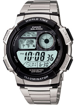 Casio Часы Casio AE-1000WD-1A. Коллекция Digital часы casio collection ae 1000wd 1a grey