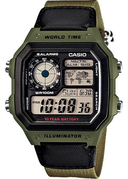 Casio Часы Casio AE-1200WHB-3B. Коллекция Digital men s multi function waterproof smart sports running watch s2 with pedometer pair with android 4 3 ios6 0 or higher bluetooth