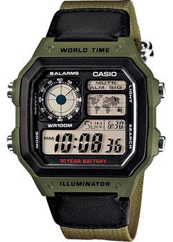 купить Casio Часы Casio AE-1200WHB-3B. Коллекция Digital дешево
