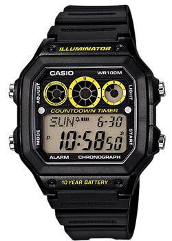 Casio Часы Casio AE-1300WH-1A. Коллекция Digital casio часы casio ae 2000wd 1a коллекция digital