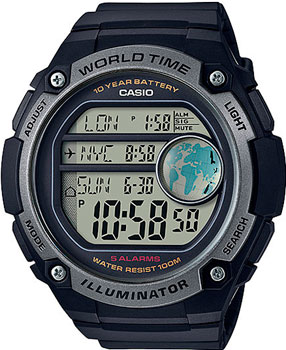 Casio Часы Casio AE-3000W-1A. Коллекция Digital casio ae 1000wd 1a
