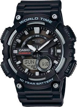 цена  Casio Часы Casio AEQ-110W-1A. Коллекция Ana-Digi  онлайн в 2017 году
