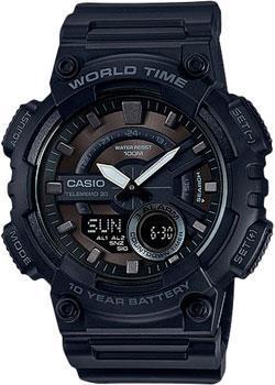цена  Casio Часы Casio AEQ-110W-1B. Коллекция Ana-Digi  онлайн в 2017 году