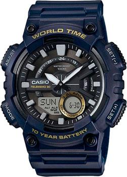 цена  Casio Часы Casio AEQ-110W-2A. Коллекция Ana-Digi  онлайн в 2017 году