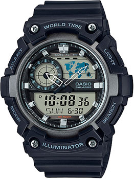 Casio Часы Casio AEQ-200W-1A. Коллекция Ana-Digi