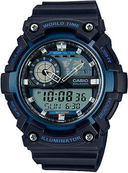 Casio Часы Casio AEQ-200W-2A. Коллекция Ana-Digi цена