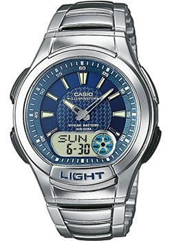 Casio Часы Casio AQ-180WD-2A. Коллекция Ana-Digi casio aq 180wd 1b