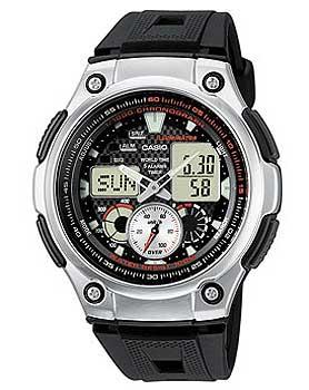 лучшая цена Casio Часы Casio AQ-190W-1A. Коллекция Ana-Digi
