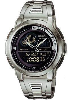 Casio Часы Casio AQF-102WD-1B. Коллекция Ana-Digi часы casio collection 41603 aqf 102wd 1b