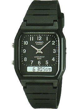Casio Часы Casio AW-48H-1B. Коллекция Ana-Digi casio часы casio ad s800wh 2a коллекция ana digi