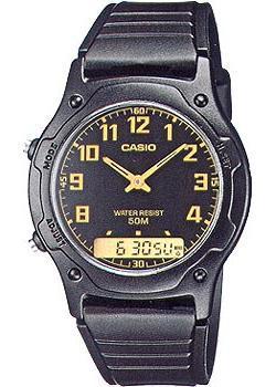 Casio Часы Casio AW-49H-1B. Коллекция Ana-Digi