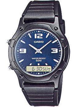 Casio Часы Casio AW-49HE-2A. Коллекция Ana-Digi