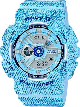 Casio Часы Casio BA-110DC-2A3. Коллекция Baby-G кварцевые часы детские casio baby g ba 110dc 2a2 blue