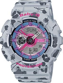 Casio Часы Casio BA-110FL-8A. Коллекция Baby-G casio g shock ba 110fl 3a