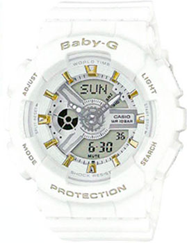 Casio Часы Casio BA-110GA-7A1. Коллекция Baby-G casio watch fashion trend cool dual color waterproof sports electronic watch ba 110ga 1a ba 110ga 7a1 ba 110ga 8a