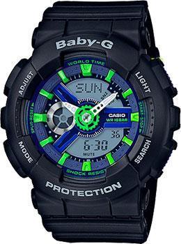 Casio Часы Casio BA-110PP-1A. Коллекция Baby-G casio часы casio ba 110pp 7a коллекция baby g